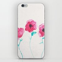 asian iPhone & iPod Skins featuring Asian Poppies by DuckyB