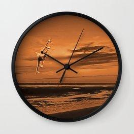 War Plane (Digital Art) Wall Clock