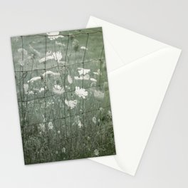 Fenced in Field of Hogweed Stationery Cards
