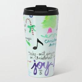 Christmas Manifesto Metal Travel Mug