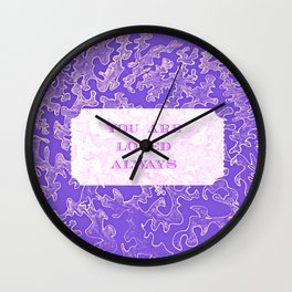 You are loved #2 Wall Clock
