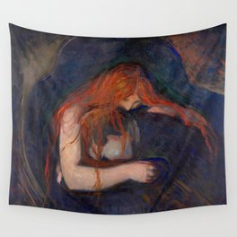 Edvard Munch - Love and Pain (The Vampire) Wall Tapestry