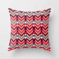 Fractal Mountains - candy Throw Pillow