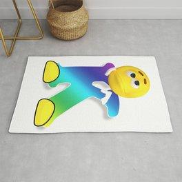 Letter K Alphabet Smiley Monogram Face Emoji Shirt for Men Women Kids Rug