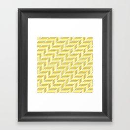 Herringbone 45 Yellow Framed Art Print