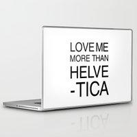 helvetica Laptop & iPad Skins featuring More than Helvetica by Lara Murasaki