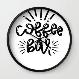 Coffee Sign Coffee Bar Wall Clock