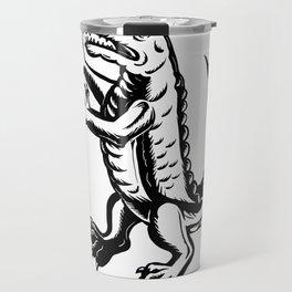 Alligator Standing Scraperboard Travel Mug