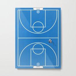 Shoot Hoops | Aerial Basketball Metal Print