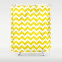 Golden Yellow Safari Chevron Shower Curtain