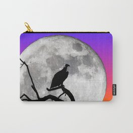 Vulture Silhouetted Against Supermoon Carry-All Pouch