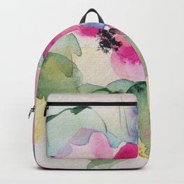 watercolor bouquet Backpack