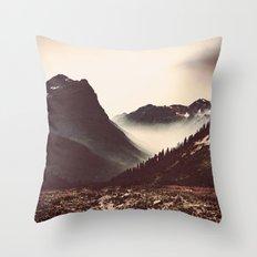 Montana Mountain Pass Throw Pillow
