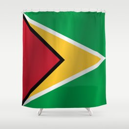 Flag of Guyana Shower Curtain