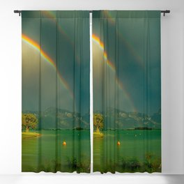 Rainbow at Tedesco Lake, Forgensee Bavaria, Germany color photograph / photography / photographs Blackout Curtain