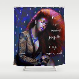 Cardi B - emotional gangster quote Shower Curtain