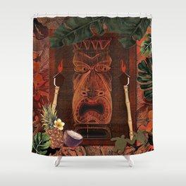 Forbidden Luau Tiki Party Shower Curtain