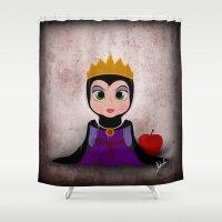 evil queen Shower Curtains featuring Villain Kids, Series 1 - Evil Queen by Joe Alexander