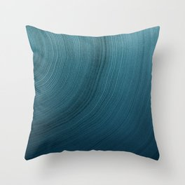 Faded Watercolor Tree Rings Throw Pillow