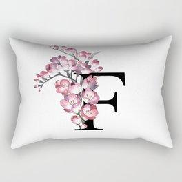 Letter 'F' Freesia Rectangular Pillow