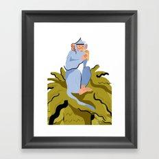 LIKE A MONKEY ON A TREE Framed Art Print