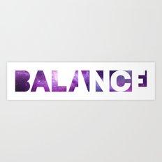 BALANCE_Galaxy version Art Print
