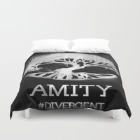 divergent Duvet Covers featuring Amity  by Diego Guzman