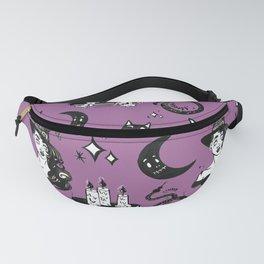 Purple Halloween Witch Pattern Fanny Pack