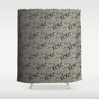 xoxo Shower Curtains featuring XOXO  by GoAti