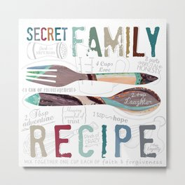 Secret Family Recipe Metal Print
