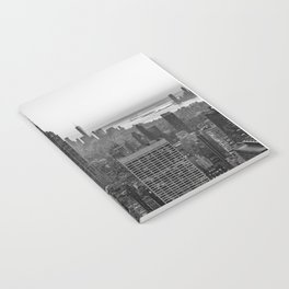 New York Skyline - Manhattan Black and White Notebook