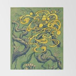 Epiphycadia II: Green Throw Blanket