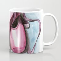 sneaker Mugs featuring ballet sneaker by rchaem