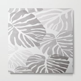 MONSTERA BNW1 Metal Print