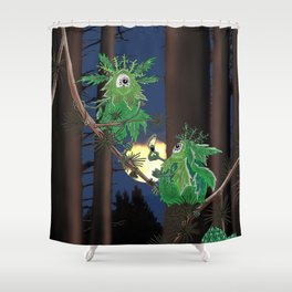 Lichens Beings Shower Curtain