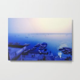Dreamy blue shores of the Ganges River Metal Print