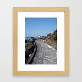 A walk in Jeju Framed Art Print