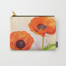 Two beautiful poppies with textures Carry-All Pouch