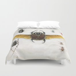 The Vintage Beetles Collection Duvet Cover