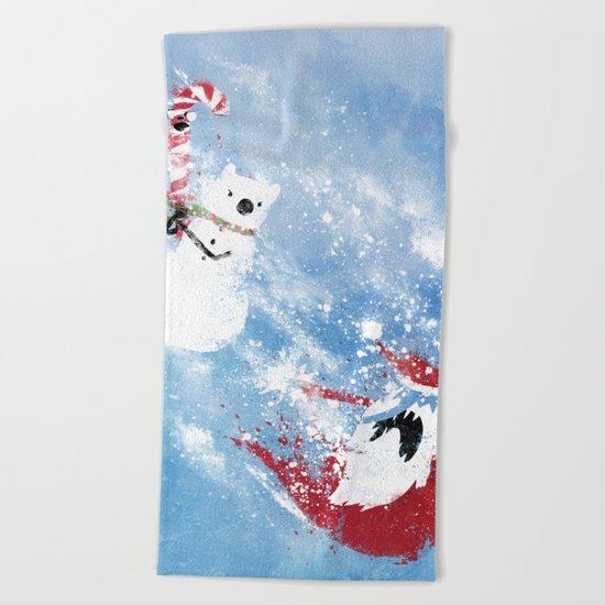 Christmas Time!! Beach Towel
