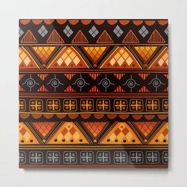 Modern Native American Pattern Metal Print