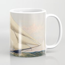 The Yacht Henrietta modeled by Mr Wm Booker NY Built by Mr Henry Steers Greenpoint LI by Charles Parsons Coffee Mug