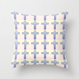 Christian Cross 47 Throw Pillow