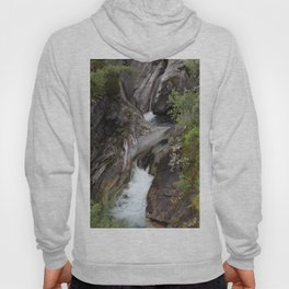 Norwegian waterfall photo, landscape photos, pothole, Instant download, Fine art gifts  Hoody