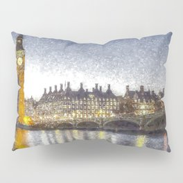 Westminster At Night Snow Pillow Sham