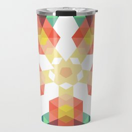 Retro star backdrop. Mosaic hipster background made of triangles Travel Mug