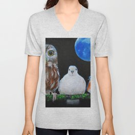 Wisdom Peace and Happiness Unisex V-Neck