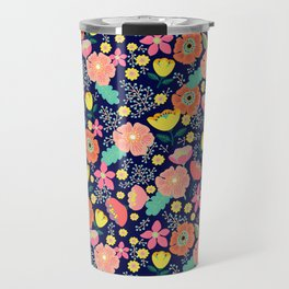 Night wild flowers Travel Mug