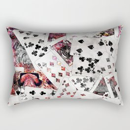 Abstract  Playing Cards Digital art Rectangular Pillow
