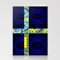 sweden Stationery Cards featuring circuit board Sweden (Flag) by seb mcnulty